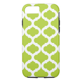 Lime Green Moroccan Pattern iPhone 7 Case