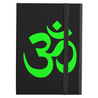 Lime Green Om Symbol iPad Air Cases