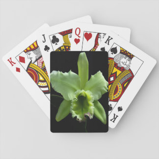 Lime Green Orchid Playing Cards