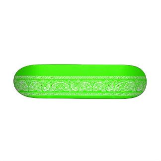 Lime Green Paisley Skateboard Mini