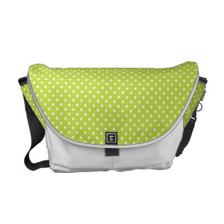 Lime green polka dot bag messenger bags