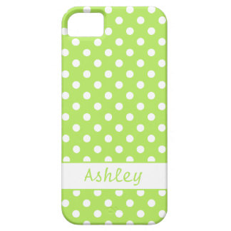 Lime Green Polka Dots Case For The iPhone 5