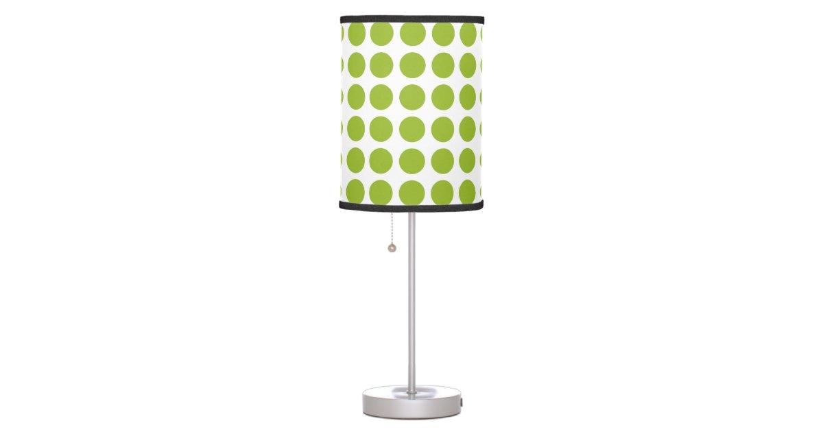 lime green polka dots desk lamp zazzle. Black Bedroom Furniture Sets. Home Design Ideas