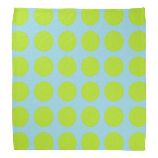 Lime Green Polka Dots Pastel Blue Kerchief