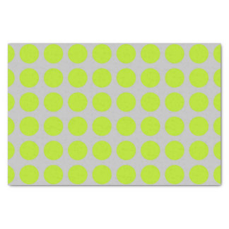 Lime Green Polka Dots Silver Tissue Paper
