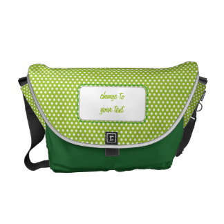 Lime green Polkadot Courier Bag