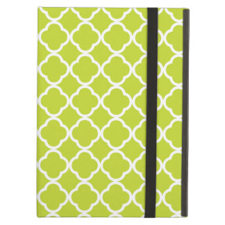 Lime Green Quatrefoil Cover For iPad Air