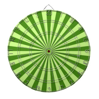 lime green retro funky sun stripes dartboards