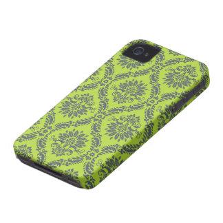 lime green royal damask pattern iPhone 4 Case-Mate case