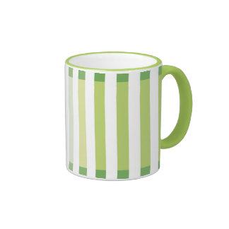 Lime Green Shades Ringer Coffee Mug