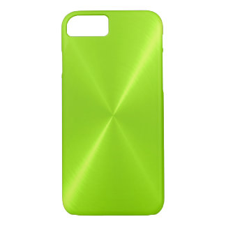 Lime Green Shiny Stainless Steel Metal iPhone 7 Case