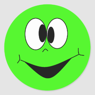 custom green smiley stickers zazzleca