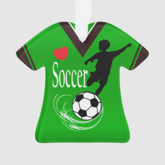 Lime Green Soccer Ball Shirt Ornament