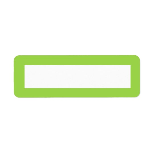 Lime green solid colour border blank
