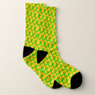 Lime Green Standard Ribbon by Kenneth Yoncich Socks