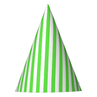 Lime Green Stripe Party Hat