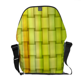 Lime green stripes graphic design commuter bag