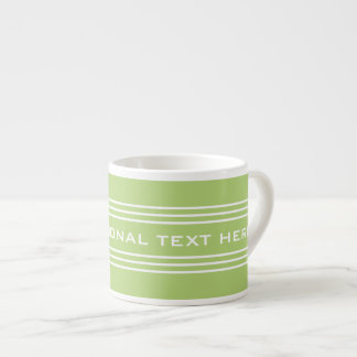 Lime Green Stripes Optional Text Custom mugs