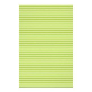 Lime Green Stripes Stationery