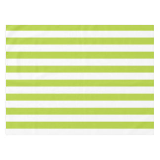 Lime Green Stripes Tablecloth