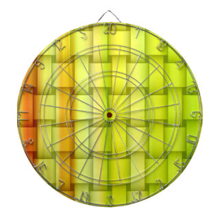 Lime green stripes wicker art graphic design dartboard