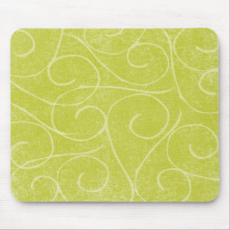 Lime Green Swirls Mouse Pad