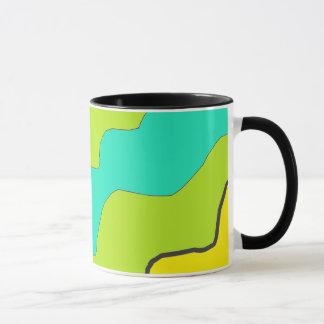Lime Green & Teal and Yellow Coffee Mug