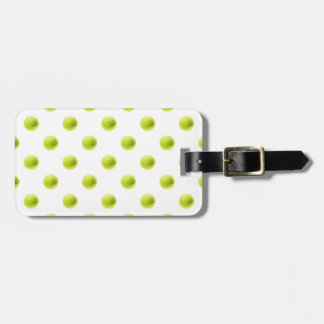 Lime Green Tennis Balls Background Ball Luggage Tag