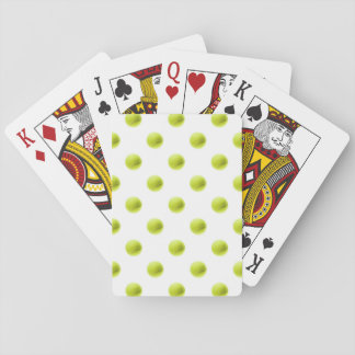 Lime Green Tennis Balls Background Ball Playing Cards