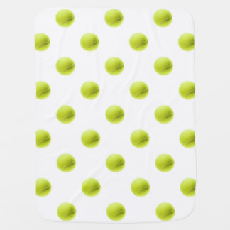Lime Green Tennis Balls Background Ball Baby Blankets