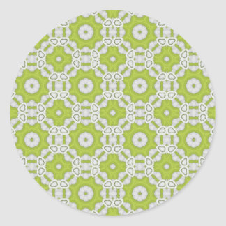 lime green tile classic round sticker