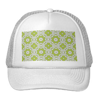 lime green tile trucker hat