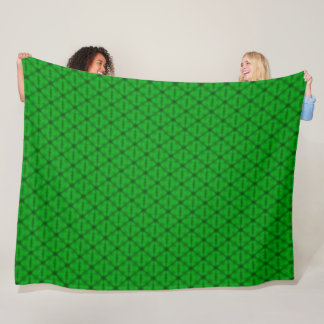 Lime Green Triangle Pattern Fleece Blanket