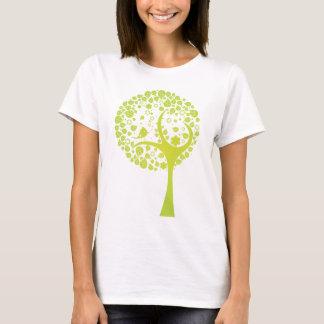 Lime Green Vector Tree w/ Bird T-Shirt