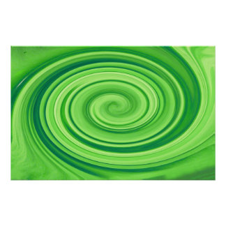 Lime Green Whirlpool Poster