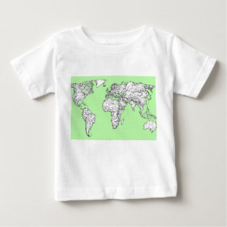 Lime green world map tshirt