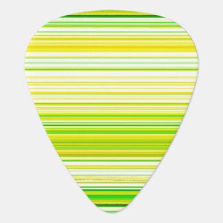 Lime Green Yellow Striped Pattern Guitar Pick