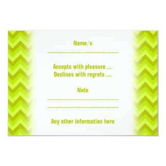 Lime Green Zig Zag Pattern. Card