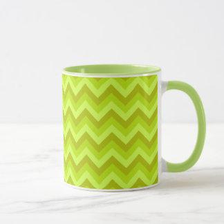Lime Green Zig Zag Pattern. Mug