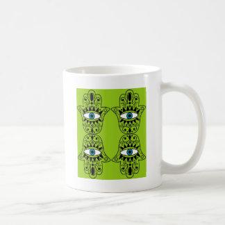 Lime Hamsas Coffee Mug