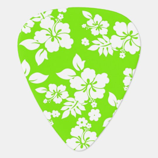 Lime Hawaiian Guitar Pick