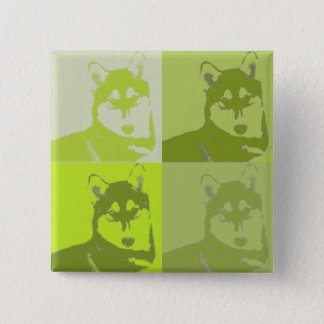 Lime Husky Button