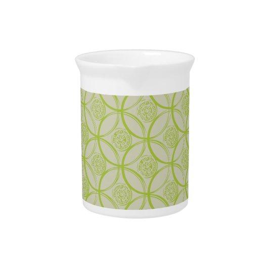 Lime jug beverage pitchers