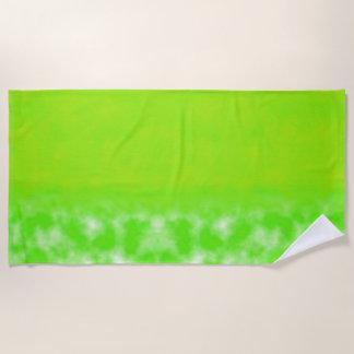 Lime Juice Green Beach Towel