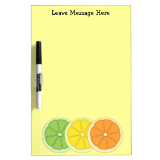 Lime Lemon and Orange Dry Erase Board