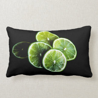 lime lemon lumbar pillow