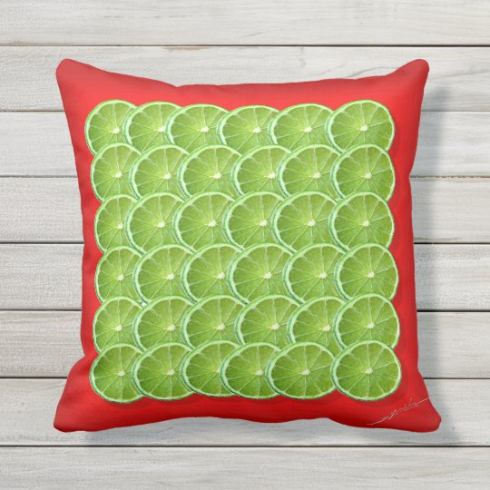 Lime Life Outdoor Pillow