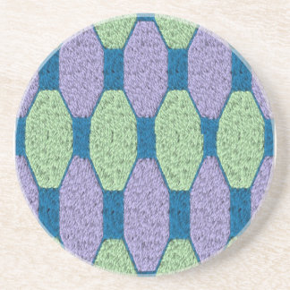 Lime & Lilac Pattern Beverage Coasters
