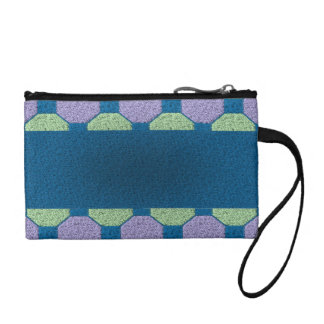 Lime & Lilac Pattern Coin Purse