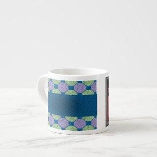 Lime & Lilac Pattern Espresso Mug